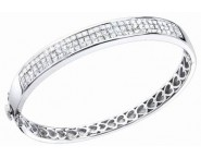 Diamond Bangle 14K White Gold 5.00 cts. S40-4