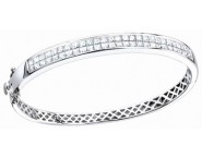 Diamond Bangle 14K White Gold 4.25 cts. S40-5