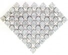 Diamond Brooch 18K White Gold 4.07 cts. DBH11801-B
