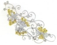 Diamond Brooch 18K White Gold 0.85 cts. DBH12106-B