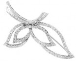 Diamond Brooch 18K White Gold 1.80 cts. DBH12363-B