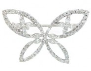 Diamond Brooch 18K White Gold 1.01 cts. DBH13453-B