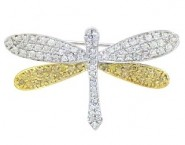 Diamond Brooch 18K White Gold 0.92 cts. DBH13498-B