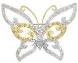 Diamond Brooch 18K White Gold 0.49 cts. DBH13644-B