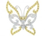 Diamond Brooch 18K White Gold 0.71 cts. DBH13653-B