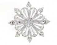 Diamond Brooch 18K White Gold 0.70 cts. DBH13657-B