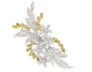 Diamond Brooch 18K White Gold 1.97 cts. DBH13882-B-1