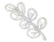 Diamond Brooch 18K White Gold 2.48 cts. DBH13955-B