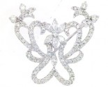Diamond Brooch 18K White Gold 1.84 cts. DBH14120-B