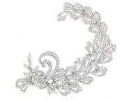Diamond Brooch 18K White Gold 2.37 cts. DBH14126-B