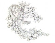 Diamond Brooch 18K White Gold 5.68 cts. DBH14130-B