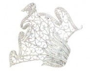 Diamond Brooch 18K White Gold 1.55 cts. DBH14176-B