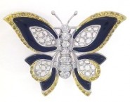 Diamond Brooch 18K White Gold 0.70 cts. DBH14177-B