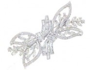 Diamond Brooch 18K White Gold 2.77 cts. DBH14254-B