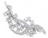 Diamond Brooch 18K White Gold 1.62 cts. DBH14402-B-S1