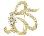 Diamond Brooch 18K Yellow Gold 0.97 cts. DBH15231-B-1