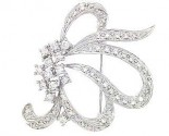 Diamond Brooch 18K White Gold 0.92 cts. DBH15231-B