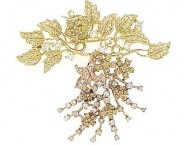 Diamond Brooch 18K Yellow-Rose Gold 2.05 cts. DBH15232-B-1 [DBH15232-B-1]