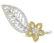 Diamond Brooch 18K White Gold 0.70 cts. DBH15234-B-1