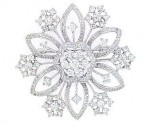 Diamond Brooch 18K White Gold 2.70 cts. DBH15235-B