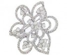 Diamond Brooch 18K White Gold 1.50 cts. DBH15236-B-S1