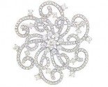 Diamond Brooch 18K White Gold 2.45 cts. DBH15644-B