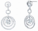 Diamond Chandelier Earrings 14K White Gold 1.95 cts. S29-6
