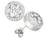 14K White Gold Diamond Cluster Earring 1.30 cts. A48-E0109
