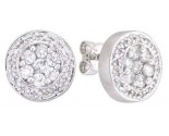 14K White Gold Diamond Cluster Earring 0.50 cts. A48-E0110