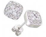 14K White Gold Diamond Cluster Earring 0.62 cts. A48-E0111