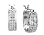 10K White Gold Diamond Fashion Earrings 0.25 cts. CL-13141