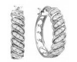 10K White Gold Diamond Fashion Earrings 0.50 cts. CL-24522