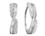 10K White Gold Diamond Fashion Earrings 1.02 cts. CL-63861