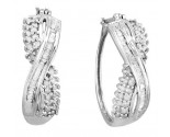 10K White Gold Diamond Fashion Earrings 0.50 cts. CL-77481