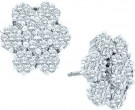 14K White Gold Diamond Cluster Earrings 4.00 ct. GD-15390
