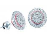 10K White Gold Diamond Cluster Earrings 0.25 cts. GD-51232