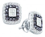 14K White Gold Diamond Cluster Earrings 0.51 cts. GD-51615