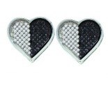 Diamond Heart Earrings 10K White Gold 0.50 cts. GD-54636