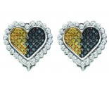 Diamond Heart Earrings 10K White Gold 0.52 cts. GD-54759