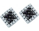 10K White Gold Black Diamond Earrings 0.25 cts. GD-57370