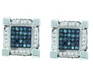10K White Gold Diamond Cluster Earrings 0.76 cts. GD-57862