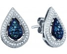 10K White Gold Diamond Fashion Earrings 0.40 cts. GD-60786