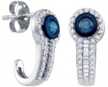 10K White Gold Diamond Fashion Earrings 0.65 cts. GD-65882