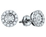 10K White Gold Diamond Cluster Earrings 0.30 cts. GD-67032