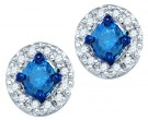 10K White Gold Blue Diamond Earrings 0.52 cts. GD-75068