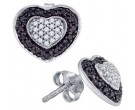 10K White Gold Black Diamond Earrings 0.51 cts. GD-76080