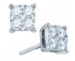 18K White Gold Diamond Fashion Earrings 0.71 cts. GD-76785