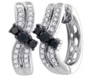 10K White Gold Diamond Fashion Earrings 0.52 cts. GD-84586