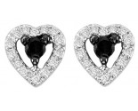 10K White Gold Diamond Heart Earrings 0.21 cts. GS-24414