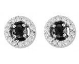 10K White Gold Diamond Cluster Earrings 0.25 cts. GS-24195